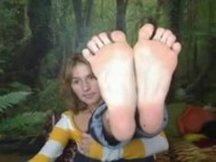 Gorgeous soles on webcam Thumb