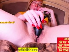 shhh moms home | cam model has unwanted orgasms bc of lovense Thumb