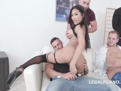Asian Polly anal gangbang with 7 males Thumb