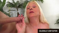 Horny Blonde Grandma Sara Skippers Shows off Her Experience Thumb